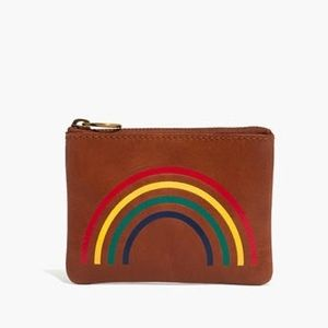 Madewell The Leather Pouch Wallet: Rainbow Edition